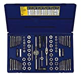 Irwin Tools 26376 76 Piece Machine Screw/Fractional/Metric Tap and Hex Die Super Set