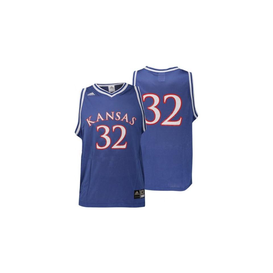 5e5b72e64fe Kansas Jayhawks No. 32 Blue Replica Basketball Jersey on PopScreen