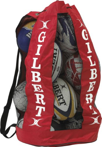 Gilbert Men's Gilbert Rugby Breathable Ball Carrier (Holds 12) - Red
