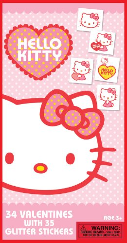 Hello Kitty Valentine's Day Cards and Stickers Party Accessory