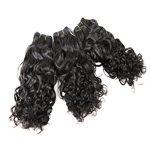 E-forest-hair-Weave-For-Women-7A-Virgin-100-Brazilian-Remy-Human-Hair-WeftWeave-Extension-Wavy-Natural-Black-Color-3-Bundles-300g-Size-10-10-10