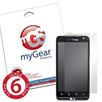 myGear Products DiamondDust Screen Protector Film for LG Revolution - (6 Pack) Diamond