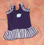 Splash About Frou Frou costume top (swimming top), Navy, Large, 6-14 months
