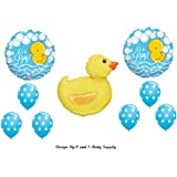IT'S A BOY RUBBER DUCKY BABY SHOWER Balloons Decorations Supplies Duck