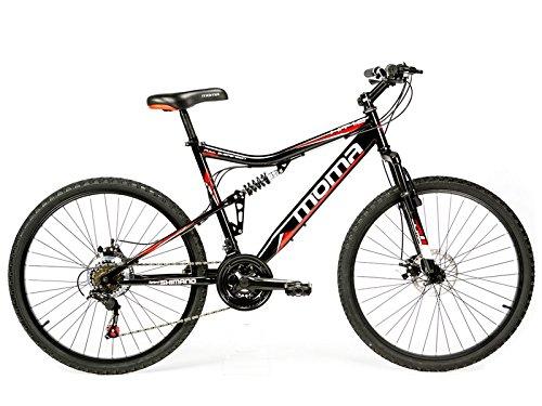 """Moma - Bicicletta Montagna Mountainbike 26"""" BTT SHIMANO, doppio disco e doppia sospensione"""