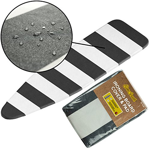 wilko drawstring ironing board cover metallic effect 124 x 4