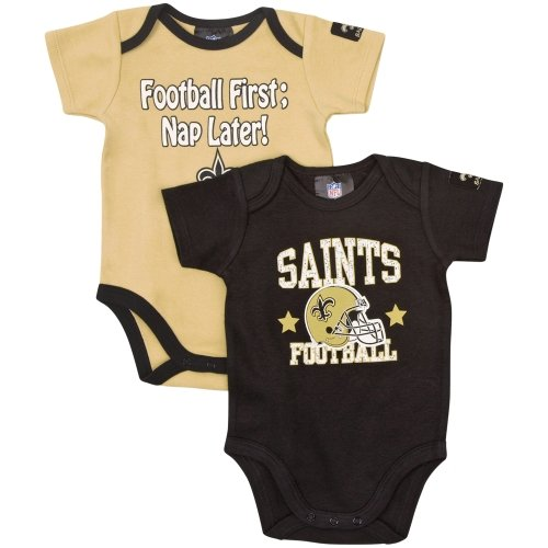 NFL New Orleans Saints Boy's Short Sleeve Bodysuit, 18 Months, Black at Amazon.com
