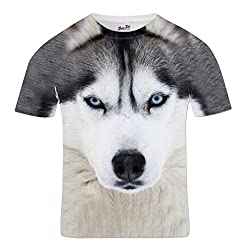 Men's Animal Print Top Husky Dog T shirt Wild Animal All Over Print Festival Summer Holiday Crewneck Sublimation Tee