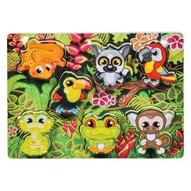 7 Piece Rainforest Animal Scene Puzzle - 1