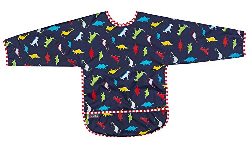 Kushies Waterproof Bib with Sleeves (2-4 Years, Dinos) - 1