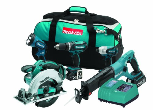 Makita LXT407X1 18-Volt LXT Lithium-Ion Cordless 5-Piece Combo Kit