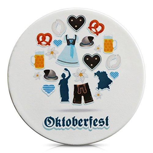 Porzellan Untersetzer für Gläser Porzellanuntersetzer Oktoberfest Motive 11 cm
