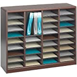 Safco Products E-Z Stor Wood Literature Organizer, 36 Compartments, Mahogany, 9321MH