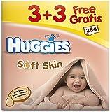 Huggies Lingettes Soft Skin (6 paquets de 64 Lingettes) - Lot de 2 (384 lingettes)