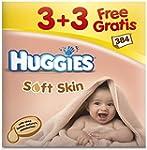 Huggies Lingettes Soft Skin (12 paque...