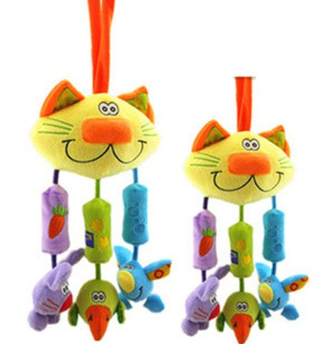 Baby Early Development Toys Multifunctional Plush Cat Bed Hang Ring Bell front-528679