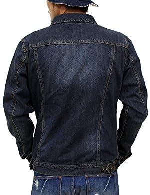 (リアルコンテンツ)REAL CONTENTS Gジャン メンズ デニムジャケット アウター ブルゾン ジャケット 大きいサイズ 52-h525rc (M, NAVY)