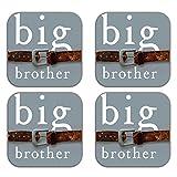 MeSleep Big Brother Wooden Coaster-Set Of 4 - B013LEK024