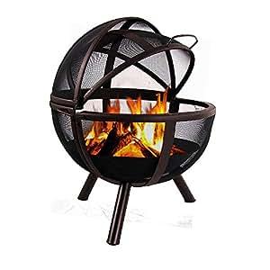 Sunnydaze Sienna Flaming Ball Fire Pit, 29