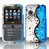 3-in-1 Bundle For Samsung S390G - Hard Case Snap-on Cover (Blue/Silver Vine)+ICE-CLEAR(TM) Screen Protector Shield... by ICE-CLEAR(TM) Samsung S390G