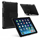 PrimeCases® Heavy Duty Black Bumper Smart Thin Case Cover For Apple iPad Air