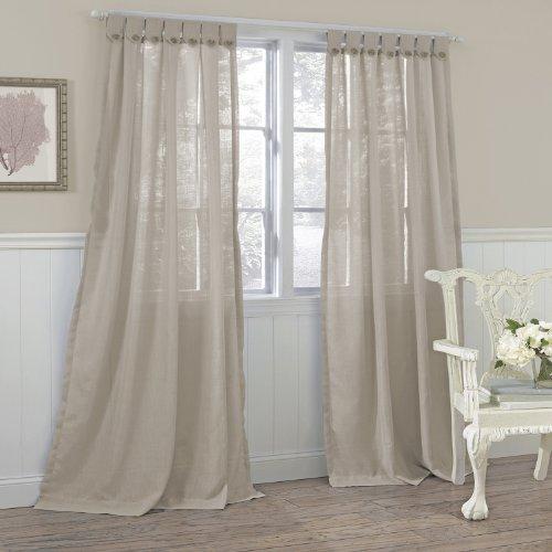 Laura Ashley Set Of 2 Easton Window Curtains Taupe Holiday