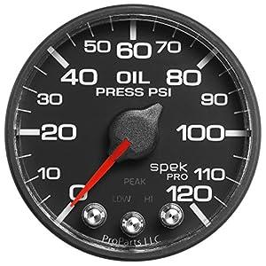 """Pro Parts P325328 Spek-Pro 2-1/16"""" Electric Oil Pressure Gauge (0-120"""