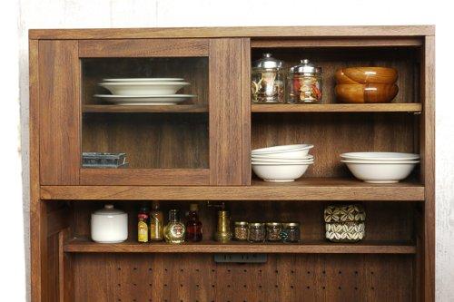 チーク家具 @CBi(アクビ) 無垢材 キッチンボード 食器棚 ACK719KA【アジアン バリ モダン 木製 ナチュラルテイスト】