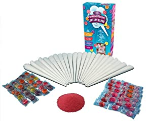 Nostalgia Electrics HCK800 Hard and Sugar-Free Cotton Candy Kit