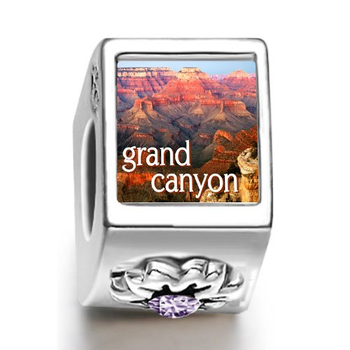 Soufeel Travel Grand Canyon February birthstone photo flower European charm bead
