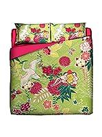 JAPAN MANIA by MANIFATTURE COTONIERE Edredón Airone (Verde/Multicolor)