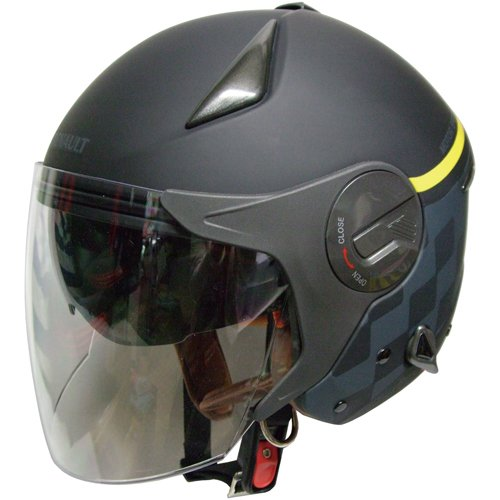 【RENAULT】ルノー ジェットヘルメット Wシールド マットブラック