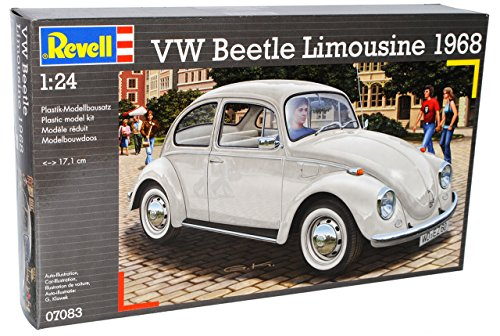 VW-Volkswagen-Kfer-Coupe-1968-Beige-07083-Bausatz-Kit-124-Revell-Modell-Auto-mit-individiuellem-Wunschkennzeichen
