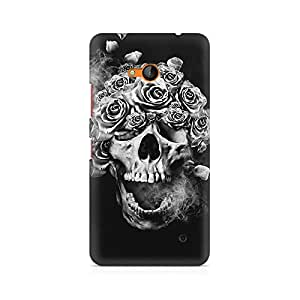 Mobicture Skull Abstract Premium Printed Case For Nokia Lumia 640
