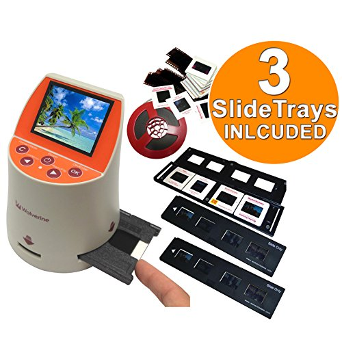 Wolverine-F2D-Mighty-20MP-7-in-1-Film-to-Digital-Converter-and-3-Wolverine-Slide-Tray-Bundle
