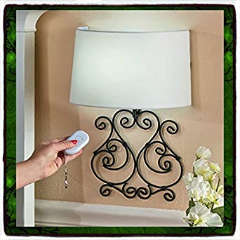 Diy Battery Operated Wall Sconces : Wall Lamp Remote Controlled Scrolled Elegant Metal LED Sconce Battery Operated Light Sconce ...