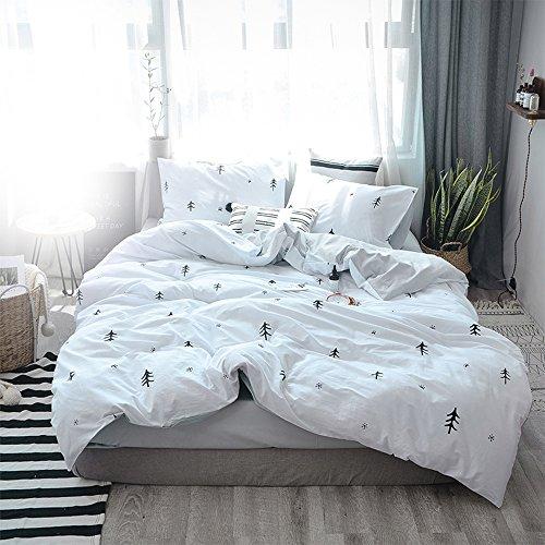 BuLuTu Kids Duvet Cover Full Cotton White/Grey,Premium Boys ...