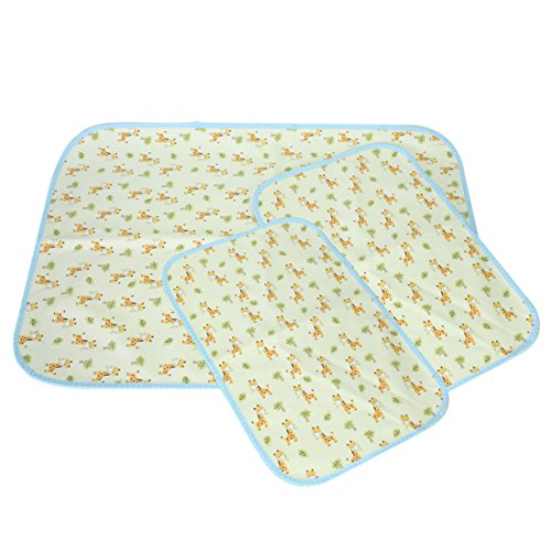 MyKazoe Waterproof Bassinet Play Yard Pad & Lap Pads - Set of 3 (Giraffe)