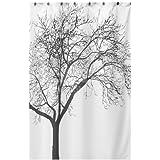Vktech Rideau de douche en tissu imperméable Design arbre