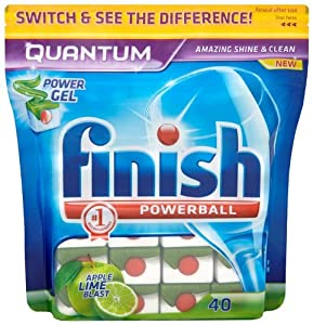 Finish Quantum Apple and Lime Blast 2 x Pack of 40 (80 Dishwasher Tablets)