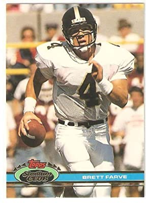 Brett Favre (RC) - 1991 Stadium Club #94 - Green Bay Packers - NFL Football Rookie Trading Card - Shipped in a Magnetic Protective Display Case!