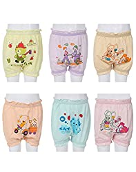 Gumber Pack of 6 Multicoloured Cotton Bloomers (GE_BLOOMER_COL_75_6pc-11-12Y)