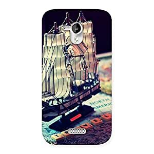 Gorgeous Travel ship Multicolor Back Case Cover for Micromax Canvas HD A116
