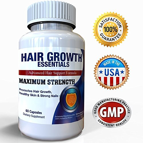 Hair Growth Essentials : #1 Rated Hair Loss Supplement for Women and Men - Advanced Hair Regrowth Treatment With 29 Powerful Hair Growth Vitamins & Nutrients for Rapid Growth