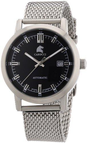 Carucci Watches Messina CA2195ST-BK - Reloj analógico automático para hombre, correa de acero inoxidable