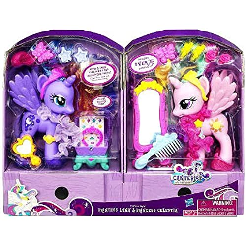 마이 리틀 포니 Exclusive Canterlot Figure 2Pack Fashion Style Princess Luna Princess Celestia