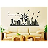 Oren Empower Glow In The Dark - Statue Of Liberty PVC Vinyl Large Wall Sticker