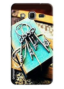Omnam Keys printed on vintage books back cover For Samsung Galaxy Core Prime G360