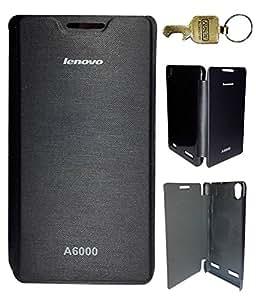 FUSON PREMIUM FLIP CASE COVER FOR LENOVO A6000 - BLACK