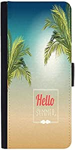 Snoogg Summer Vector Illustration With Palm Treedesigner Protective Flip Case...